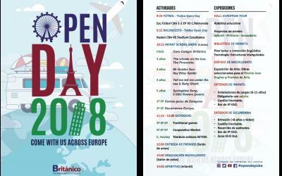 Información y programa OPEN DAY 2018