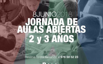 Jornada de Aulas Abiertas para 2 y 3 años. 8 Junio de 2018