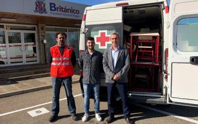 El Colegio Británico de Aragón dona mobiliario escolar a Cruz Roja Juventud