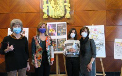 La alumna del Británico Irene Hammadi, primer premio del concurso de comic contra la violencia de género